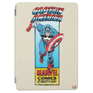 Captain America Retro Comic Character iPad Air Cover