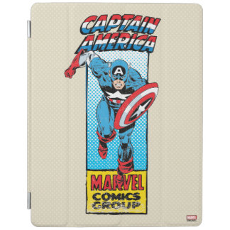 Captain America Retro Comic Character iPad Cover