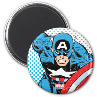 Captain America Retro Comic Character Magnet