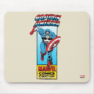 Captain America Retro Comic Character Mouse Pad