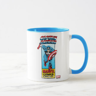 Captain America Retro Comic Character Mug