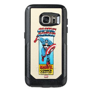 Captain America Retro Comic Character OtterBox Samsung Galaxy S7 Case