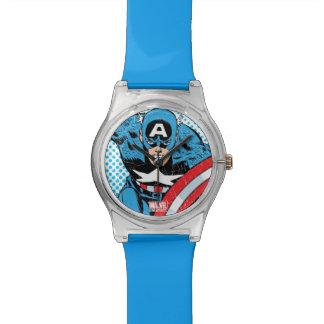 Captain America Retro Comic Character Wristwatches