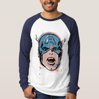 Captain America Retro Comic Halftone Head T-Shirt