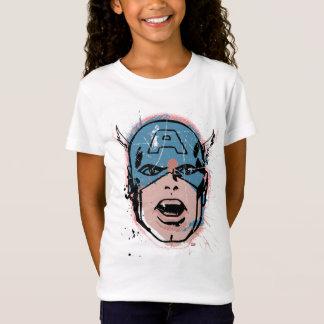Captain America Retro Comic Halftone Head T-Shirt