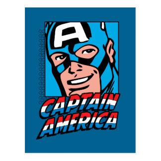 Captain America Retro Comic Icon Postcard