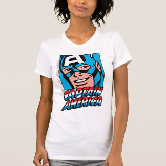 Captain America Retro Comic Icon T-Shirt