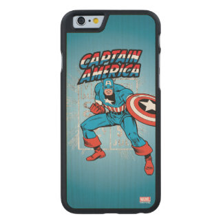 Captain America Retro Price Graphic Carved Maple iPhone 6 Case