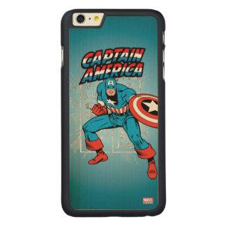 Captain America Retro Price Graphic Carved Maple iPhone 6 Plus Case