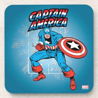 Captain America Retro Price Graphic Coaster
