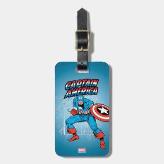 Captain America Retro Price Graphic Luggage Tag