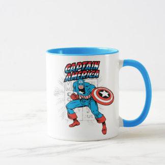 Captain America Retro Price Graphic Mug