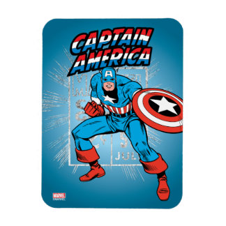 Captain America Retro Price Graphic Rectangular Photo Magnet