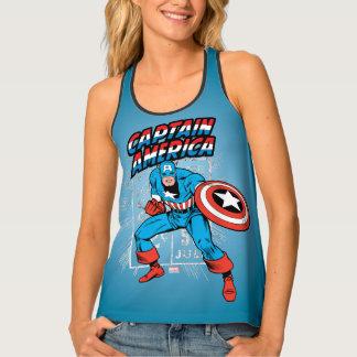 Captain America Retro Price Graphic Tank Top