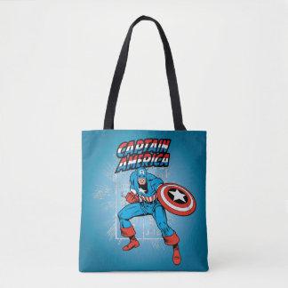 Captain America Retro Price Graphic Tote Bag