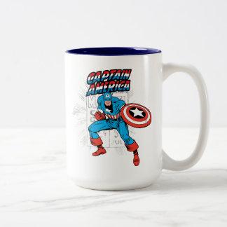 Captain America Retro Price Graphic Two-Tone Coffee Mug