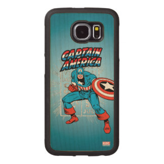 Captain America Retro Price Graphic Wood Phone Case