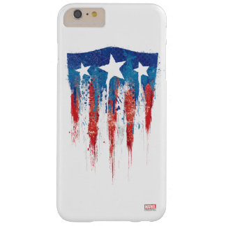 Captain America Retro Shield Paint Brush Strokes Barely There iPhone 6 Plus Case