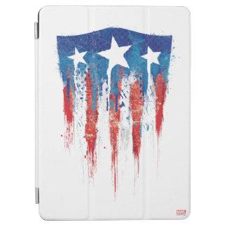 Captain America Retro Shield Paint Brush Strokes iPad Air Cover