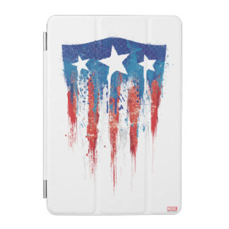 Captain America Retro Shield Paint Brush Strokes iPad Mini Cover