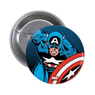 Captain America Run 2 Inch Round Button