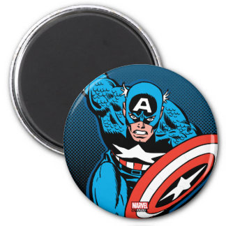 Captain America Run 2 Inch Round Magnet