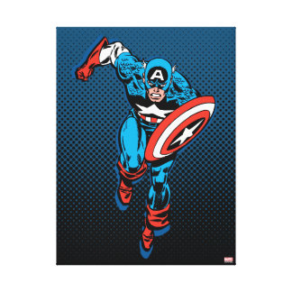 Captain America Run Canvas Print