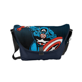 Captain America Run Messenger Bags