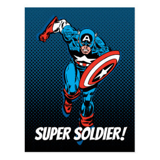 Captain America Run Postcard