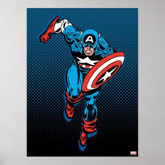 Captain America Run Poster