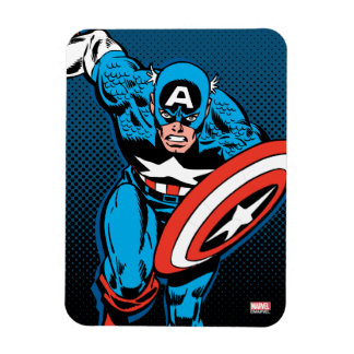 Captain America Run Rectangular Photo Magnet