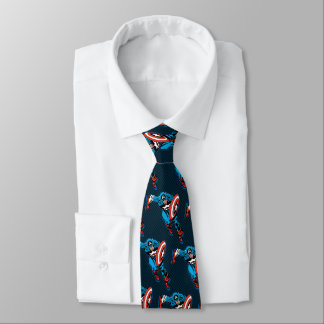 Captain America Run Tie