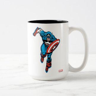 Captain America Run Two-Tone Coffee Mug