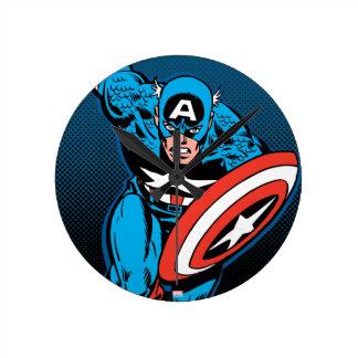 Captain America Run Wallclock