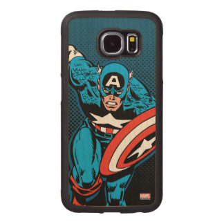 Captain America Run Wood Phone Case