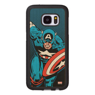 Captain America Run Wood Samsung Galaxy S7 Case