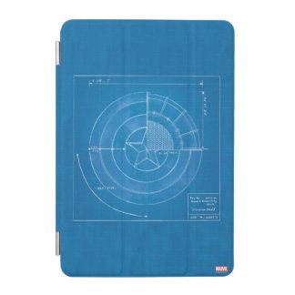 Captain America Shield Blueprint iPad Mini Cover