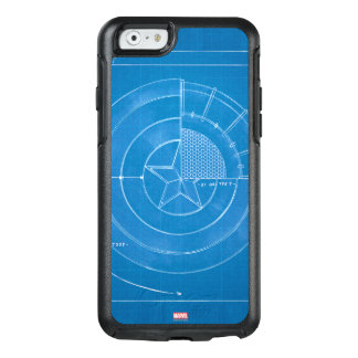 Captain America Shield Blueprint OtterBox iPhone 6/6s Case