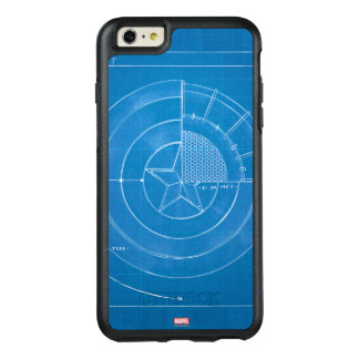 Captain America Shield Blueprint OtterBox iPhone 6/6s Plus Case
