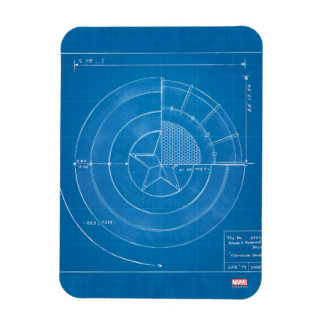 Captain America Shield Blueprint Rectangular Photo Magnet