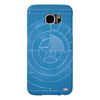 Captain America Shield Blueprint Samsung Galaxy S6 Cases