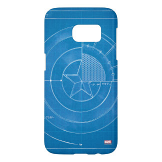 Captain America Shield Blueprint Samsung Galaxy S7 Case