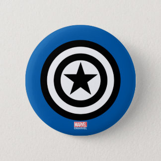 Captain America Shield Icon 2 Inch Round Button