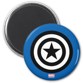 Captain America Shield Icon 2 Inch Round Magnet