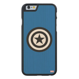 Captain America Shield Icon Carved Maple iPhone 6 Case