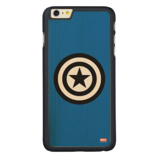Captain America Shield Icon Carved® Maple iPhone 6 Plus Case