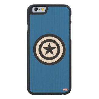 Captain America Shield Icon Carved® Maple iPhone 6 Slim Case