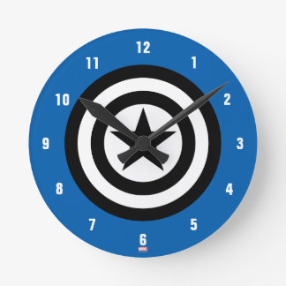Captain America Shield Icon Clock
