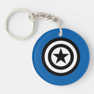 Captain America Shield Icon Double-Sided Round Acrylic Keychain