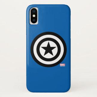 Captain America Shield Icon iPhone X Case